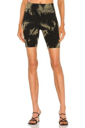 AllSaints Jamie Tie Dye Bike Shorts in - Black. Size 0 (also in 00, 2, 4, 6, 8).