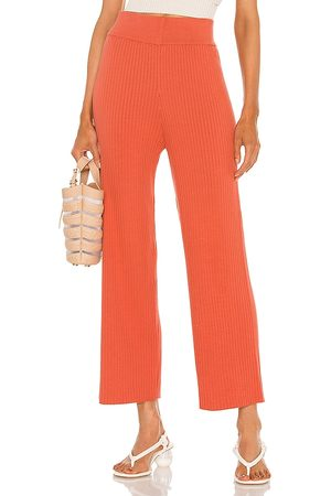 Cult Gaia Jada Knit Pant in - Coral. Size L (also in M, S, XS).