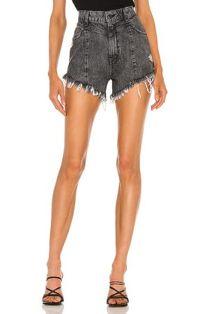 Retrofete X REVOLVE Sabrina Short in - Charcoal. Size 23 (also in 24, 25, 26, 27, 28, 29, 30).