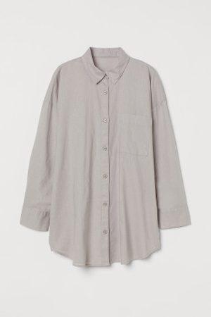 H&M Senhora Formal - Camisa de noite com linho