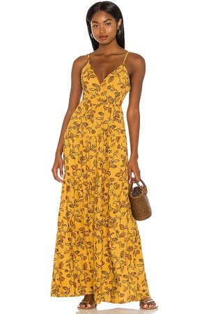 House of Harlow X Sofia Richie Toleda Maxi Dress in - Yellow. Size L (also in M, S, XL, XS, XXS).