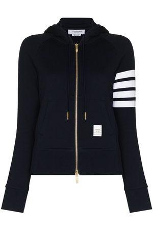 Thom Browne Senhora Tops de Cavas - 4-Bar loopback zip-up hoodie