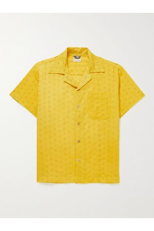 Post-Imperial Ijebu Camp-Collar Broderie Anglaise Cotton Shirt