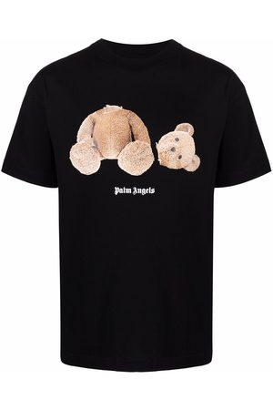 Palm Angels Homem T-shirts & Manga Curta - Logo-print short-sleeve T-shirt