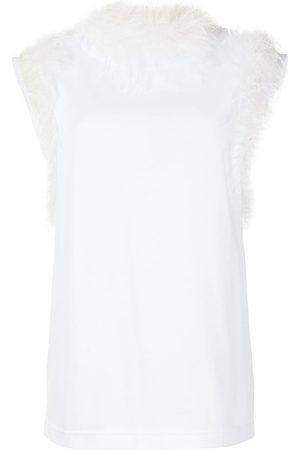 Dolce & Gabbana Senhora Blusas - Ostrich feather-trim blouse