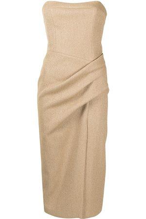 MANNING CARTELL Ruched off-shoulder midi dress