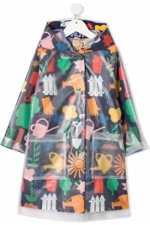 Stella McCartney Gardening-print parka coat