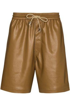 Nanushka Drawstring vegan leather Bermuda shorts