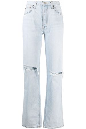 RE/DONE Destroyed bleach jeans