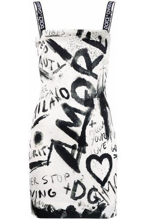Dolce & Gabbana Graffiti-print sleeveless mini dress