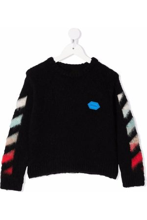 Off-White Kids OFF BRUSHED SWEATER MULTICOLOR