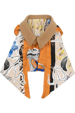 Maison Margiela Oversize collar draped scarf