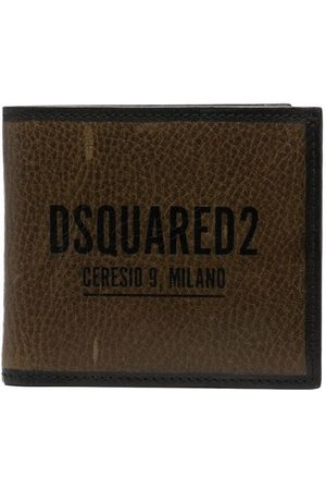 Dsquared2 Distressed logo-print wallet