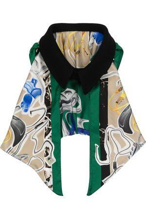 Maison Margiela Oversized collar draped scarf