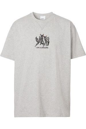 Burberry Embroidered Deer Cotton Oversized T-shirt