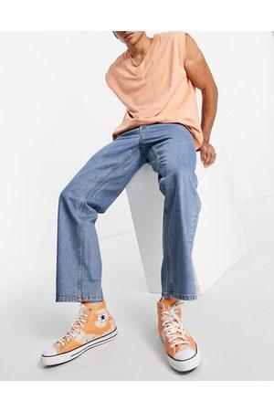 Topman Baggy jeans in mid wash-Blue
