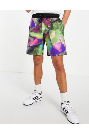 ASOS Co-ord festival relaxed shorts in all over print-Multi