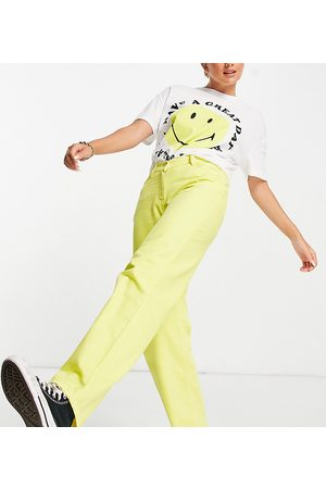 COLLUSION X014 90s baggy dad jeans with dipped waist in yellow