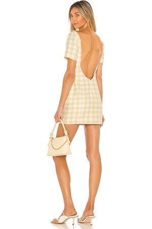 Camila Coelho Senhora Vestidos - Delphine Mini Dress in - Lemon. Size L (also in XXS, XS, S, M, XL).