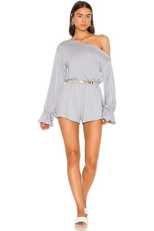Lovers + Friends Ontario Romper in - Grey. Size L (also in XS, S, M).