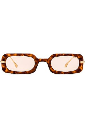 WeWoreWhat The Backyard Sunglasses in - Brown. Size all.