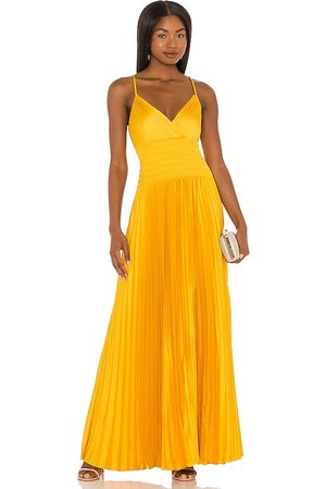 BCBG Max Azria Maxi Dress in - Yellow. Size L (also in XS, S, M).