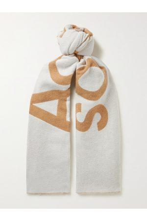Acne Studios Homem Cachecóis & Echarpes - Logo-Jacquard Wool-Blend Scarf