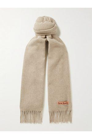 Acne Studios Homem Cachecóis & Echarpes - Canada Fringed Wool Scarf