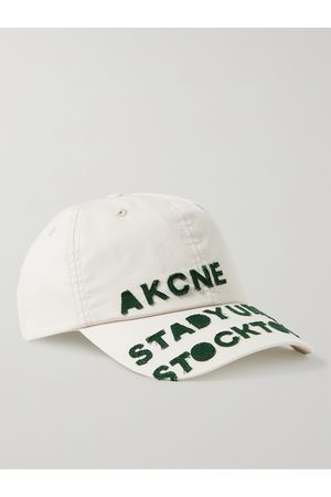 Acne Studios Homem Chapéus - Logo-Appliquéd Cotton Baseball Cap