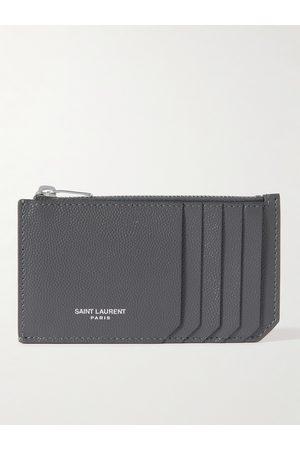 SAINT LAURENT Homem Bolsas & Carteiras - Logo-Print Pebble-Grain Leather Cardholder