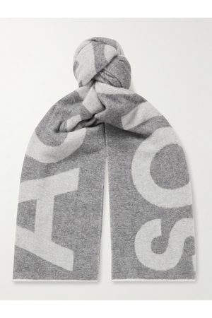 Acne Studios Homem Cachecóis & Echarpes - Reversible Two-Tone Intarsia Wool-Blend Scarf