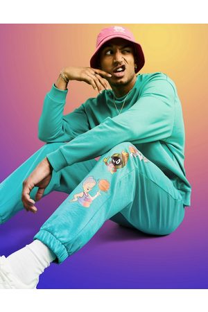 ASOS DESIGN Space Jam: A New Legacy co-ord jogger with character print in teal-Green