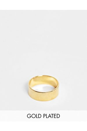 ASOS Band ring with 14k gold plate
