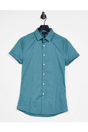 ASOS Skinny fit shirt in teal-Green