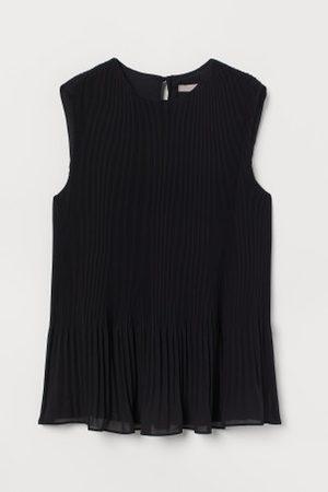H&M Blusa plissada