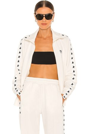 Golden Goose Denise Track Jacket in - Ivory. Size L (also in XS, S, M).