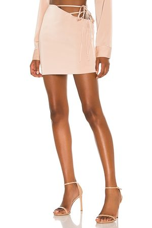 NBD Mirrorball Mini Skirt in - Nude. Size L (also in XXS, XS, S, M, XL).