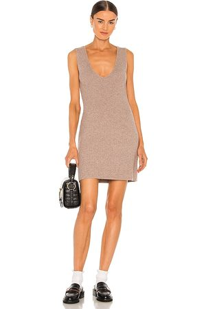 Weekend Stories Evelyn Knit Dress in - Taupe. Size L (also in XXS, XS, S, M, XL).