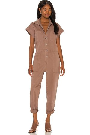 Pistola Naomi Sleeveless Jumpsuit in - Brown. Size L (also in XXS, XS, S, M).