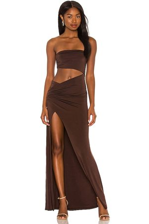 NBD Lotte Gown in - Brown. Size L (also in XXS, XS, S, M, XL).