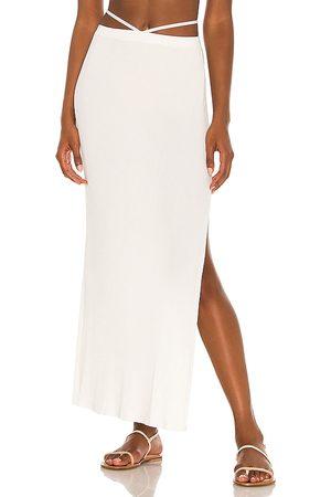DEVON WINDSOR Sage Skirt in - White. Size L (also in XS, S, M, XL).