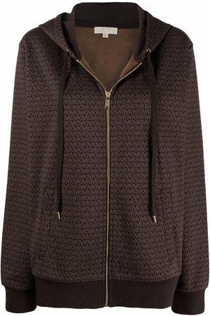 Michael Michael Kors Monogram-print zip-up hoodie