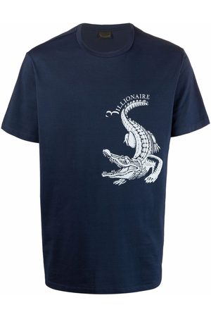 Billionaire Crocodile-motif cotton T-Shirt