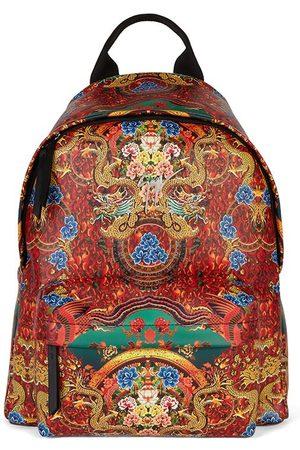 Giuseppe Zanotti Bud oriental-print leather backpack