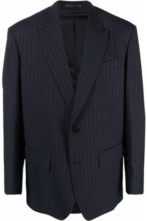 Valentino Homem Blazers - Monogram-jacquard wool jacket