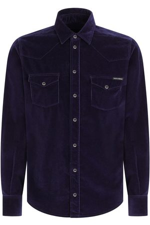 Dolce & Gabbana Long-sleeve corduroy shirt
