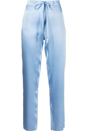 Marques'Almeida Tapered pyjama silk trousers