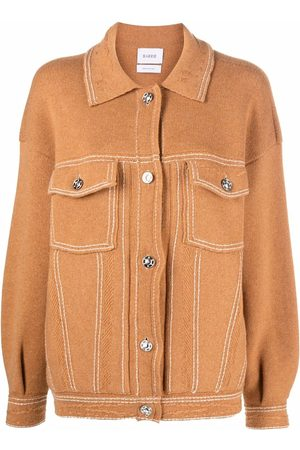 Barrie Oversized cashmere and cotton-blend jacket