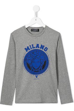 Versace Kids Medusa-print longsleeved T-shirt