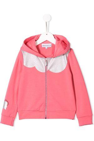 Simonetta Glitter panel hoodie